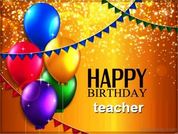 Happy Birthday Teacher Image