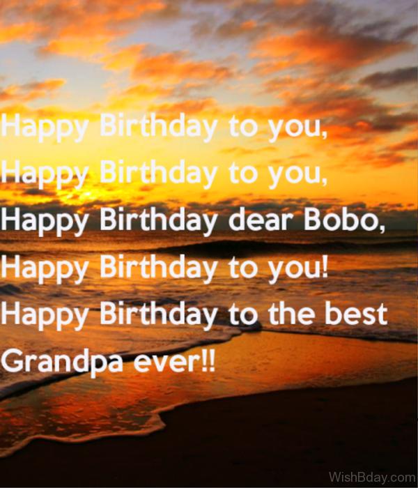 Happy Birthday To The Best Grandpa