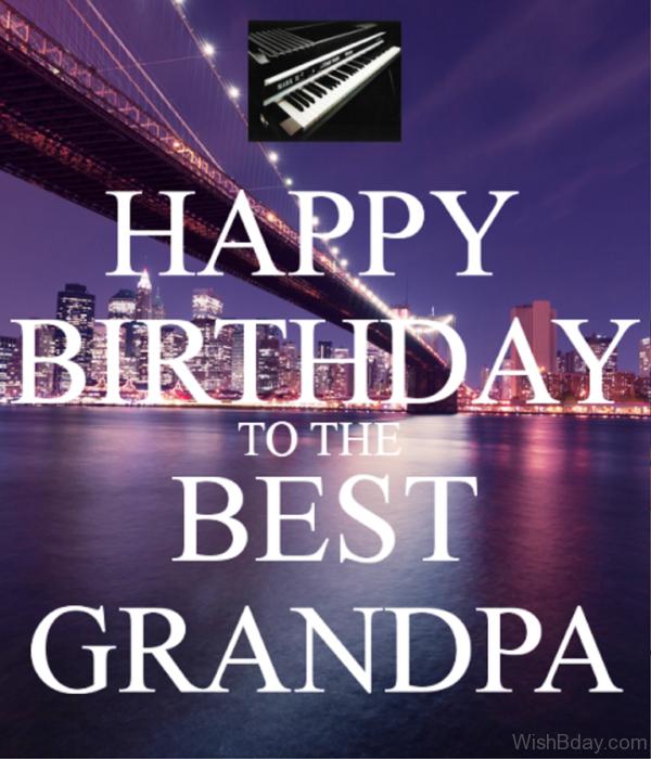 Happy Birthday To The Best Grandpa Image