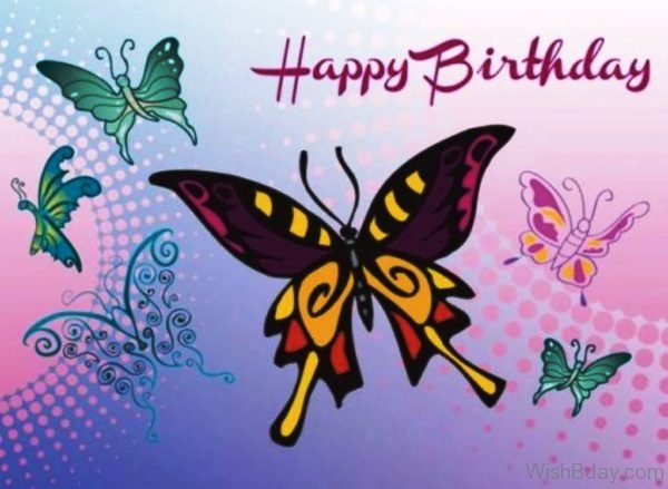 Happy Birthday With Butterfly 1