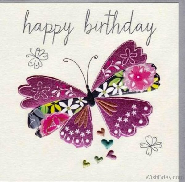 Happy Birthday With Butterfly