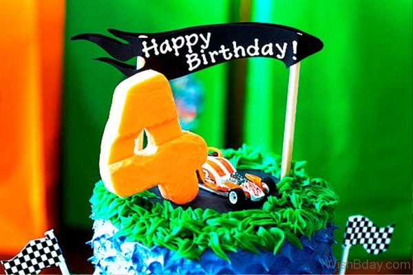 Happy Birthday With Cake Image