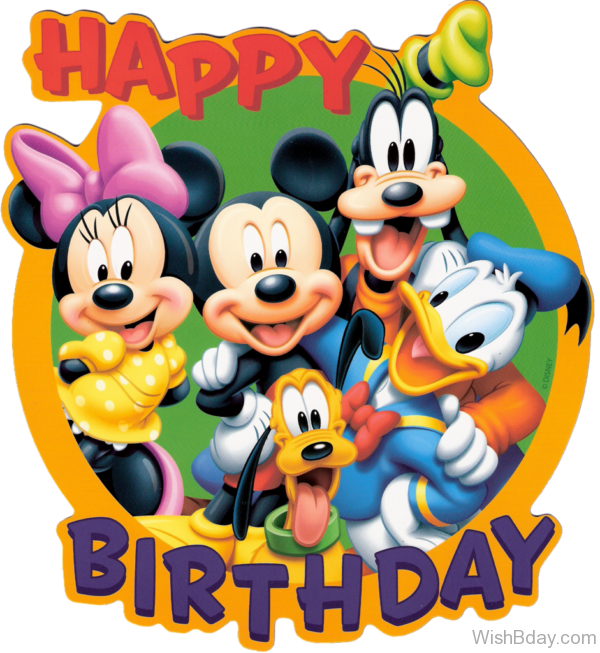 Happy Birthday With Disney Cartoon