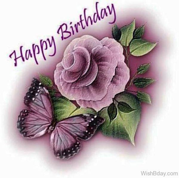 Happy Birthday With Rose