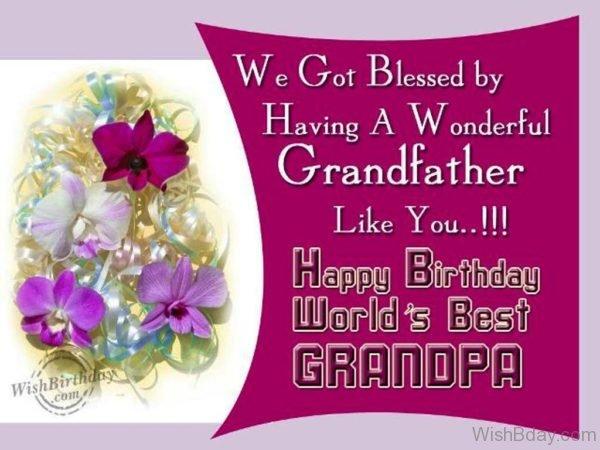 Happy Birthday Worlds Best GRandpa