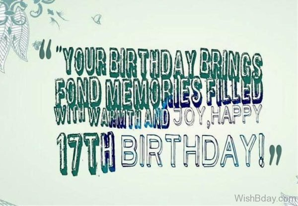Happy Seventeenth Birthday 1
