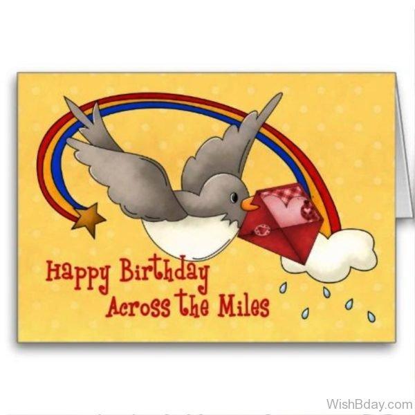 Happy birthday Across The Miles