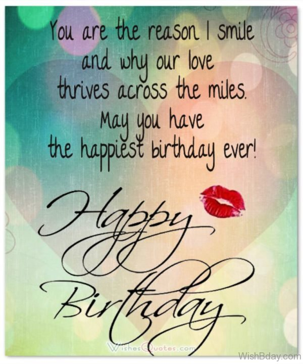 Happy birthday May Our THrives Across The Miles