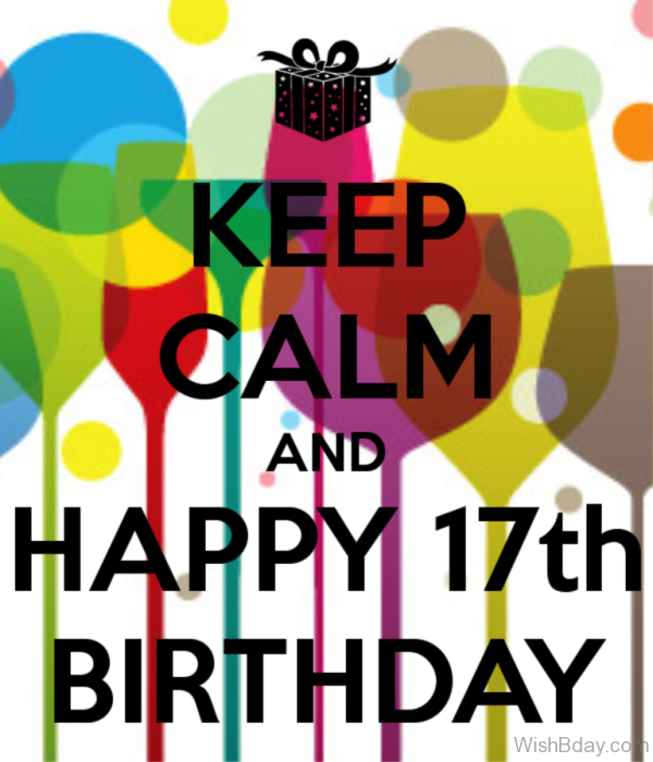 Keep Calm And Happy Seventh Birthday