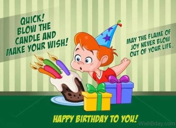Quick Blow The Candles And Make Your Wish