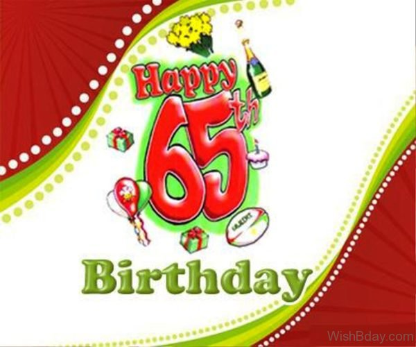 Sixty Fifth Happy Birthday Wishes