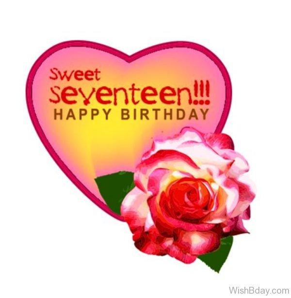 Sweet Seventeen Happy Birthday