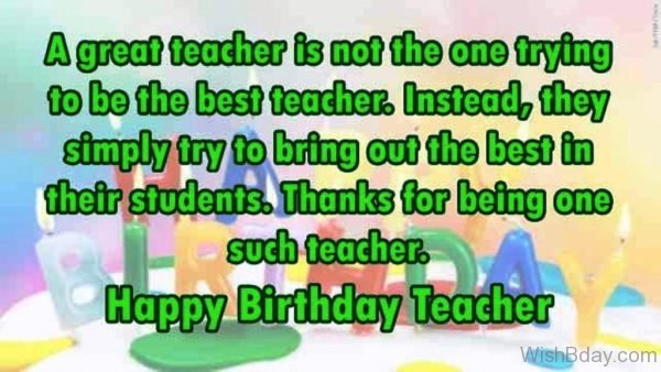 Thanks For Being One Such Teacher