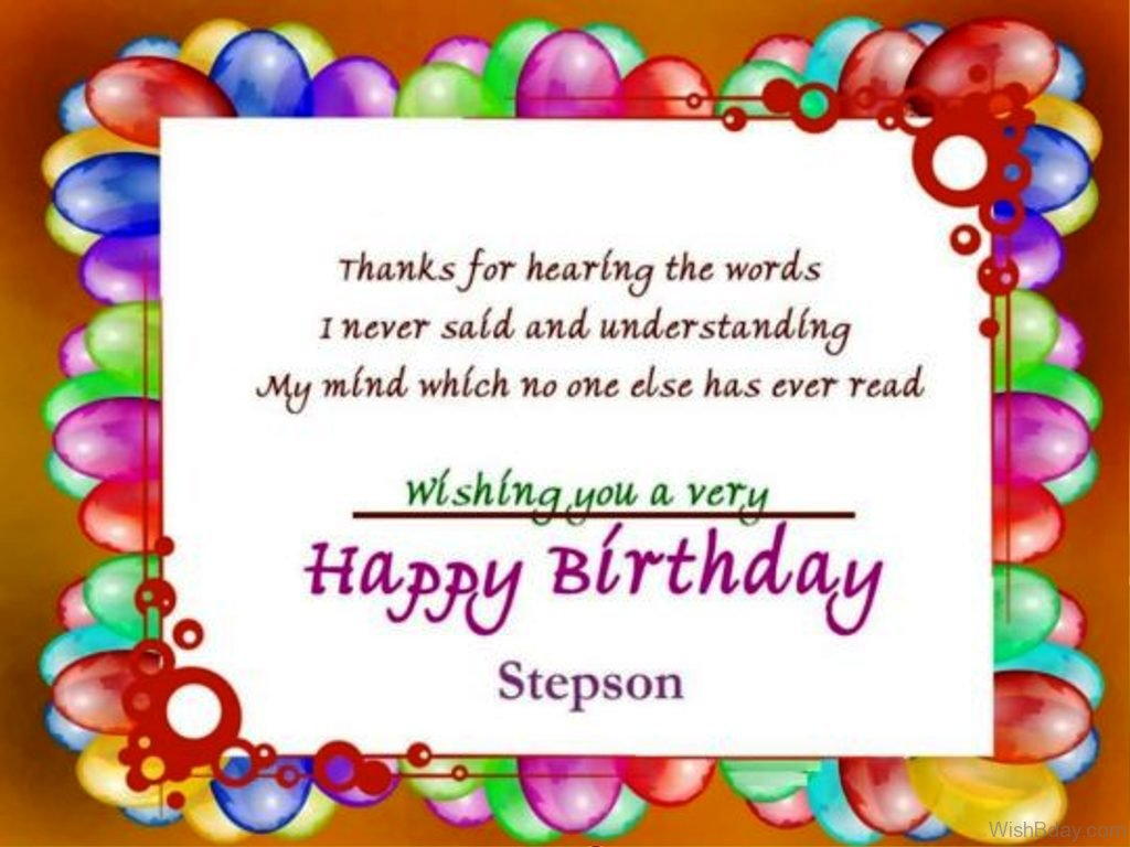 48 Birthday Wishes For Stepson – Birthday Greeting Words