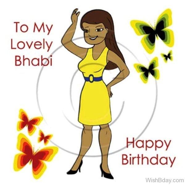 To My Lovely Bhabhi Happy Birthday