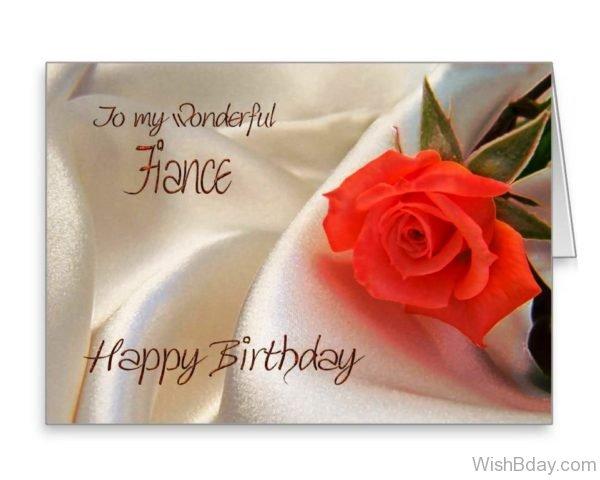 To My Wonderful Fiance Happy Birthday
