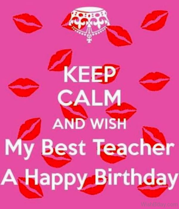 Wish My Best Teacher A Happy Birthday