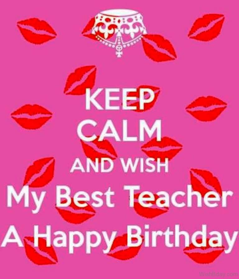 happy birthday teacher card printable