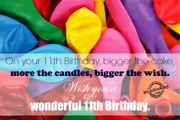 Wish You A Wonderful Eleventh Birthday