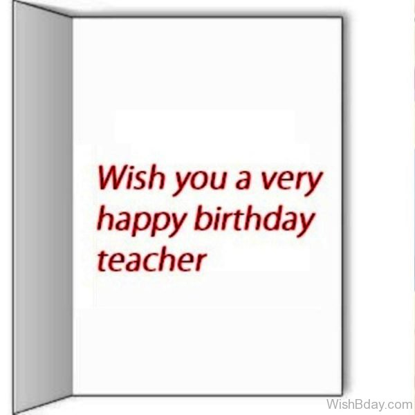 Wishing You A Very Happy Birthday Teacher