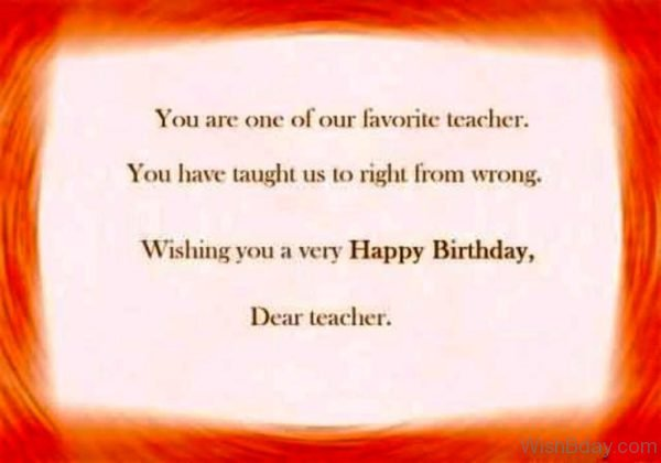 You Are One Of Our Favourite Teacher