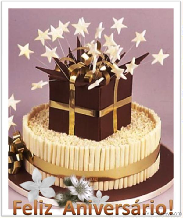 Feliz Aniversário With Cake